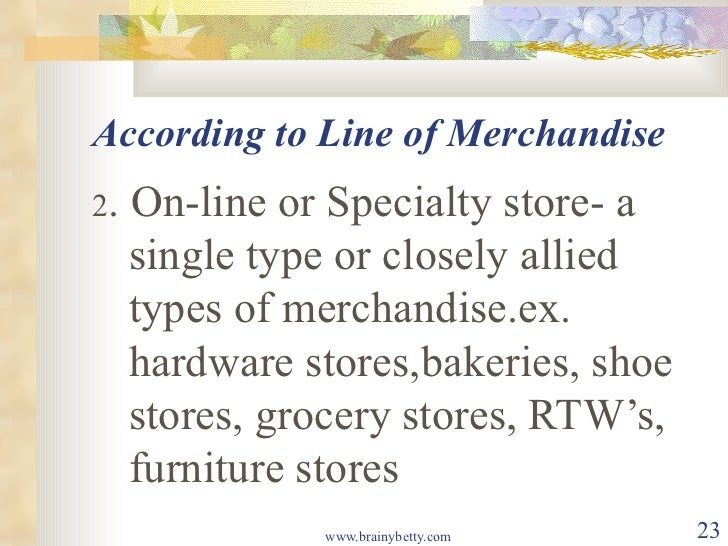 classification of retail businesses Many people who are entering the retail industry – either as a store manager,  owner,  classification / category – a group of merchandise items that are.