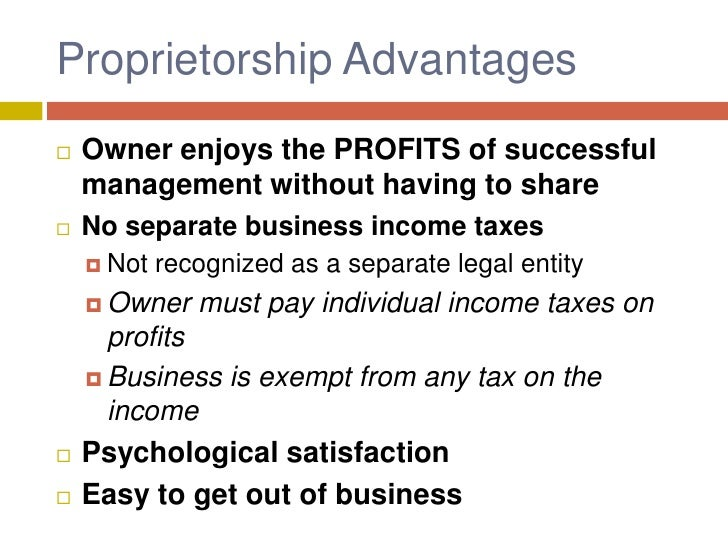 legal entities and sole proprietorship