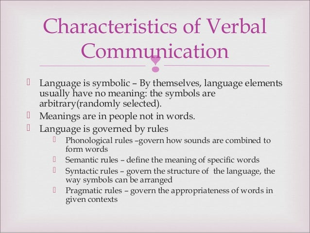 verbal communication definition and examples
