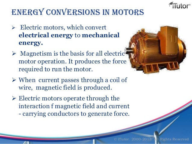 Electrical Mechanical Energy : Forms of energy