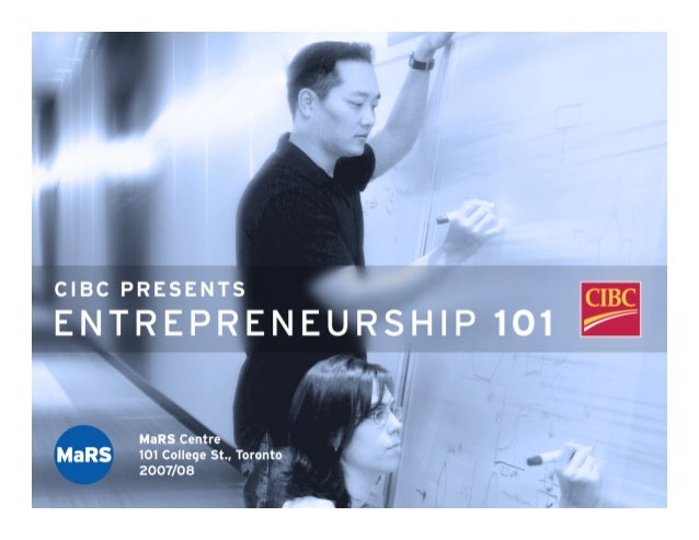 `   Different Forms of   Entrepreneurship   Presented by:   Tony Redpath   Business Advisor, MaRS Discovery District   15 ...