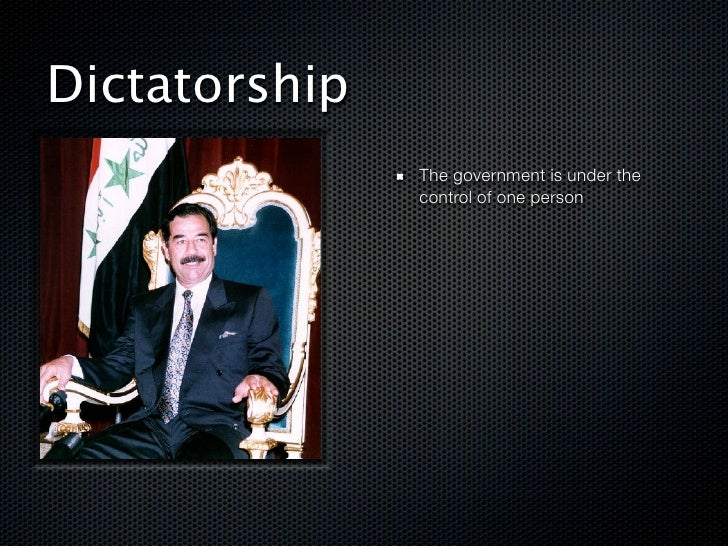 What is a dictatorship? Definition, facts, characteristics.