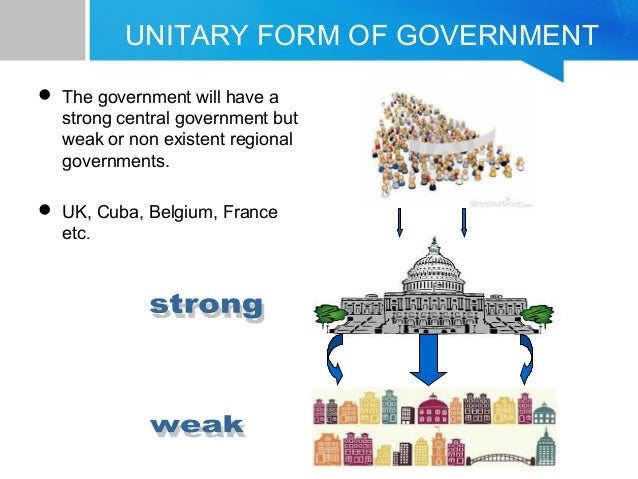 unitary type of government