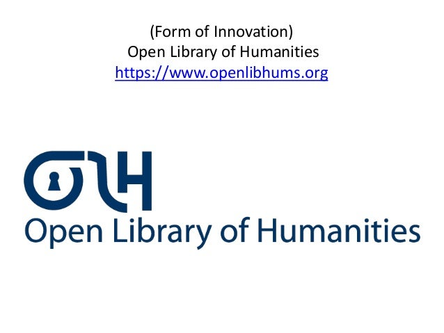 (Form of Innovation)Open Library of Humanitieshttps://www.openlibhums.org