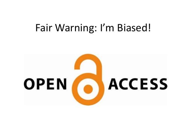 Fair Warning: I'm Biased!