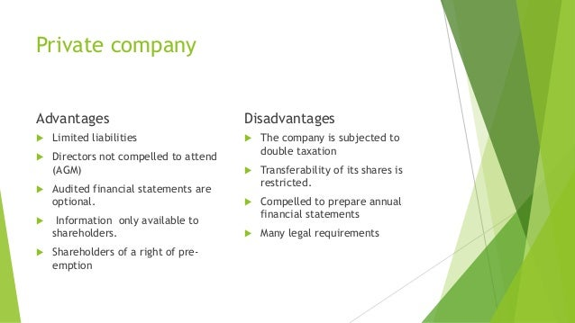 advantages of public company Advantages of a private limited company pvt ltd companies offer the following advantages: well as unsecured and can also accept deposits from the public.