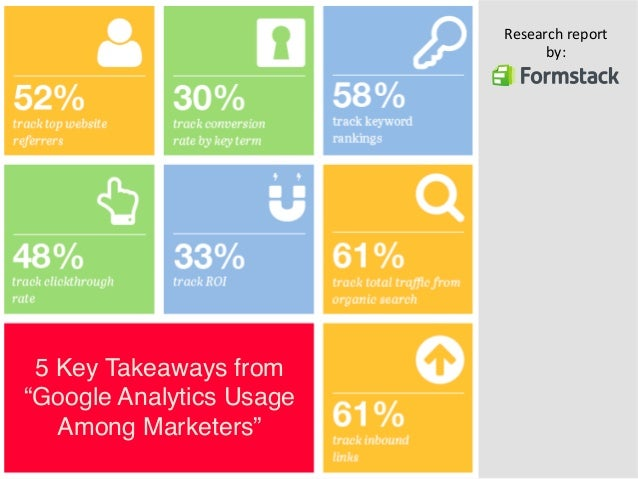 """5 Key Takeaways from  """"Google Analytics Usage  Among Marketers""""""""  Research  report  by:"""