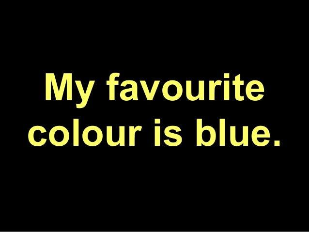 favorite color blue essay