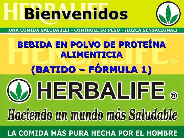 Bienvenidos BEBIDA EN POLVO DE PROTEÍNA ALIMENTICIA (BATIDO – FÓRMULA 1)