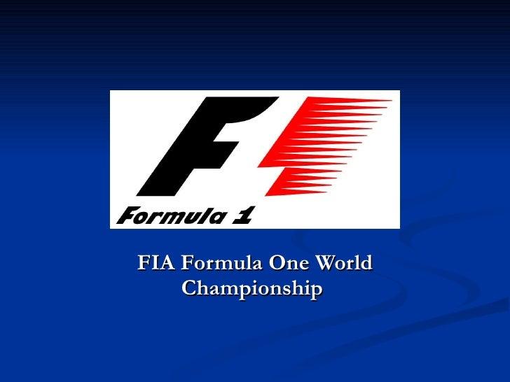 FIA Formula One World Championship