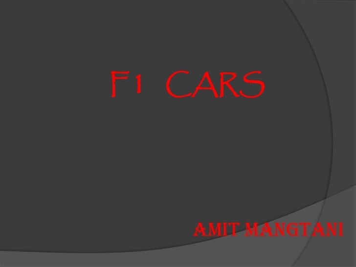 F1 CARS   AMIT MANGTANI