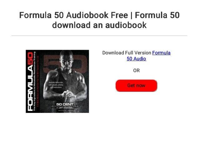 Formula 50 audiobook free | formula 50 download an audiobook.