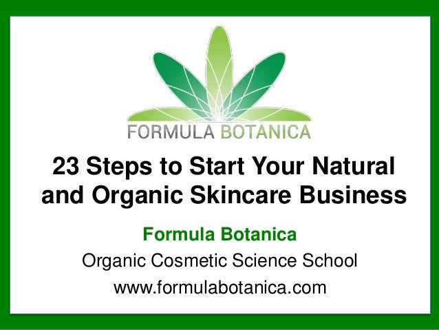 23 Steps to Start your Natural Skincare Business