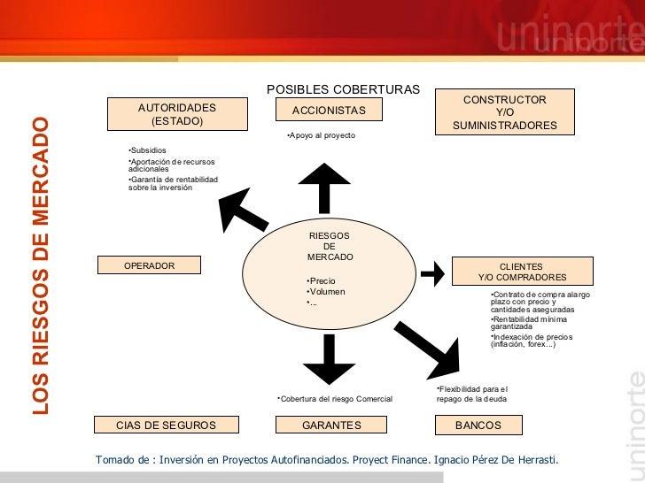 LOS RIESGOS DE MERCADO Tomado de : Inversión en Proyectos Autofinanciados. Proyect Finance. Ignacio Pérez De Herrasti. POS...