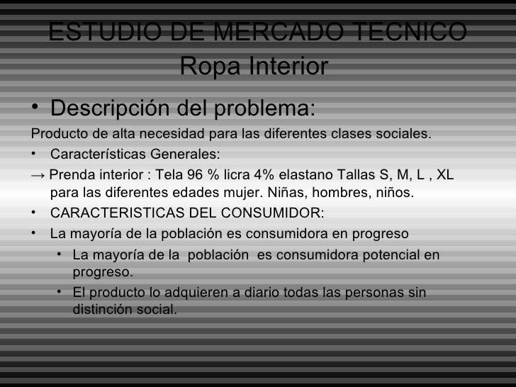 Formulacion idea del proyecto ropa interior - Descripcion del producto ...