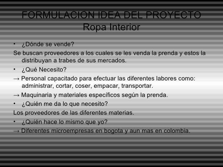 19d1862f089b FORMULACION IDEA DEL PROYECTO Ropa Interior ...