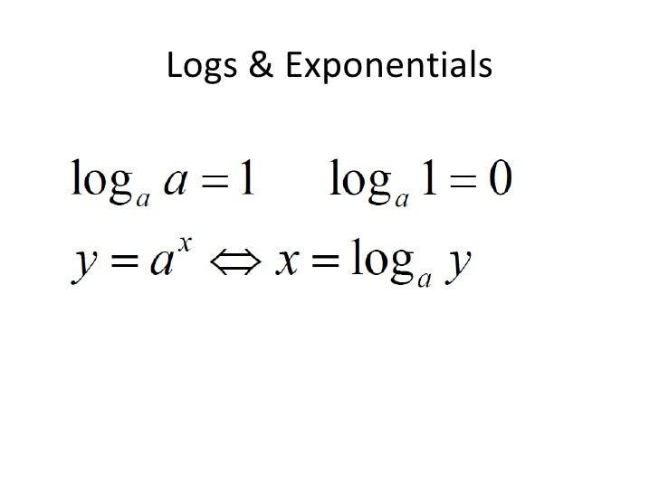 Logs & Exponentials