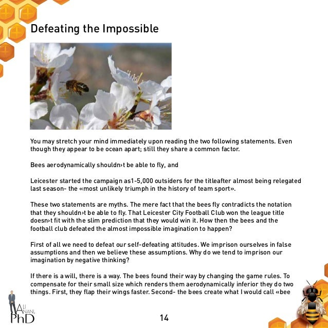 14 Defeating the Impossible You may stretch your mind immediately upon reading the two following statements. Even though t...