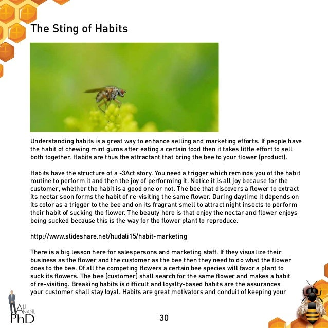 30 The Sting of Habits Understanding habits is a great way to enhance selling and marketing efforts. If people have the ha...