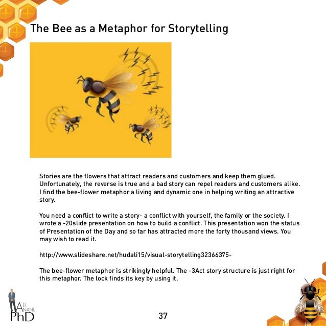 37 The Bee as a Metaphor for Storytelling Stories are the flowers that attract readers and customers and keep them glued. ...