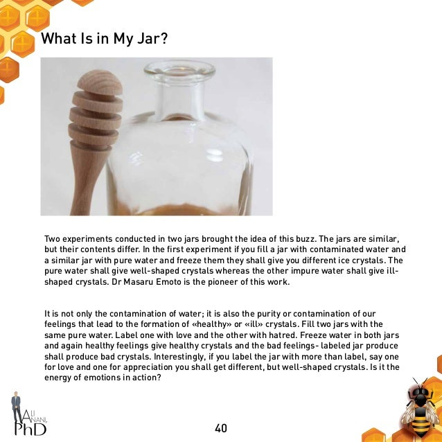 40 What Is in My Jar? Two experiments conducted in two jars brought the idea of this buzz. The jars are similar, but their...