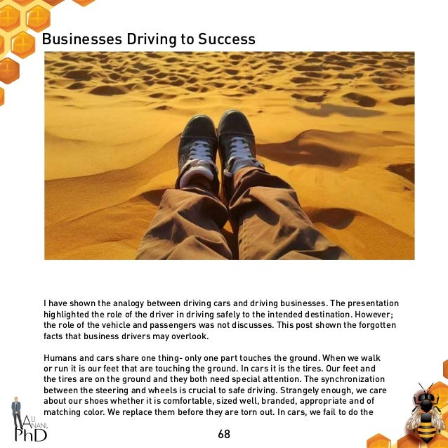 68 Businesses Driving to Success I have shown the analogy between driving cars and driving businesses. The presentation hi...