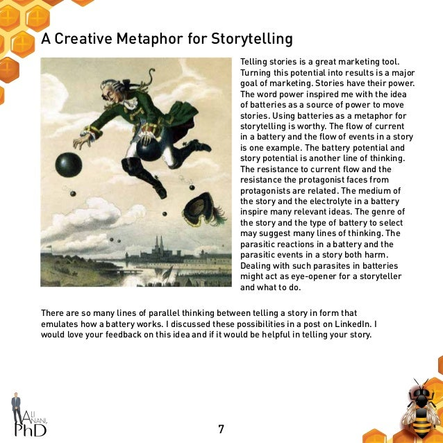 7 A Creative Metaphor for Storytelling Telling stories is a great marketing tool. Turning this potential into results is a...
