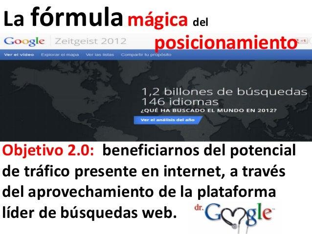 La fórmula mágica del                     posicionamientoObjetivo 2.0: beneficiarnos del potencialde tráfico presente en i...