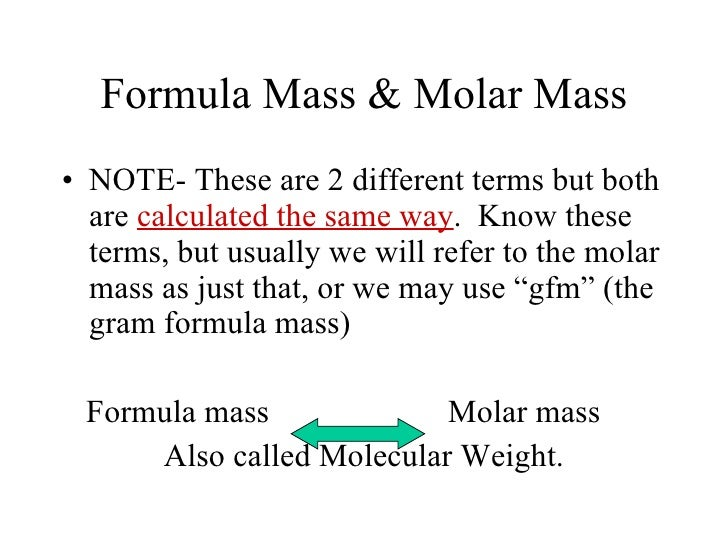 Formula mass powerpoint – Gram Formula Mass Worksheet Answers