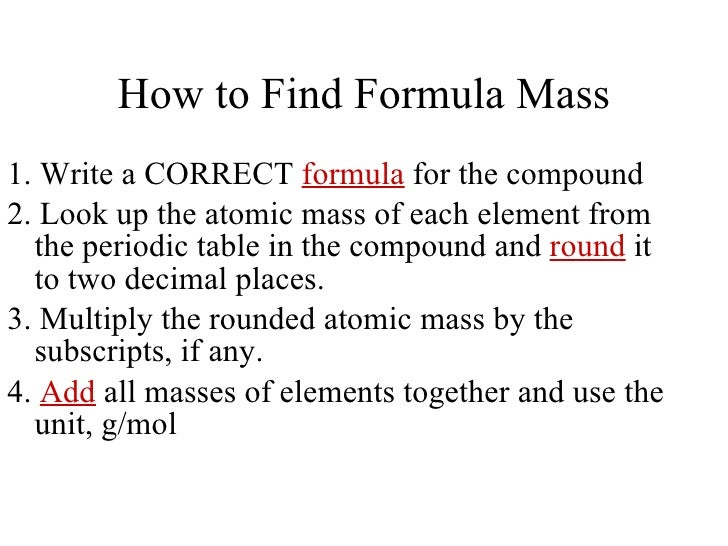 how to get the molar mass of a compound