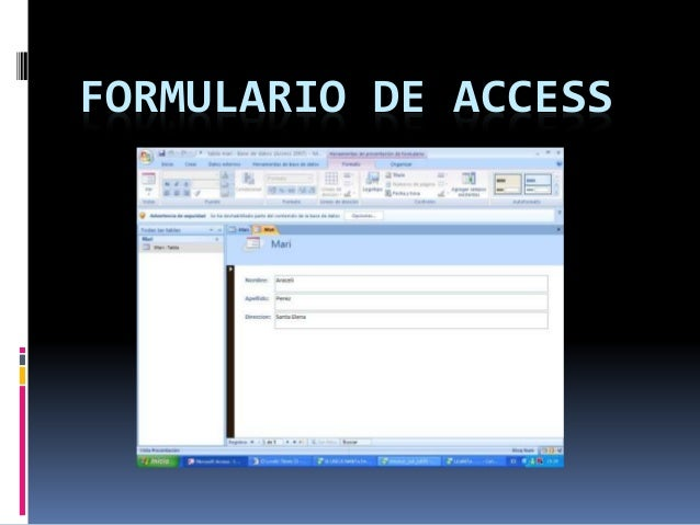 FORMULARIO DE ACCESS