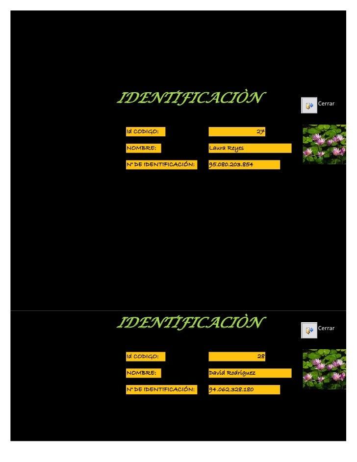 Formulario de identificación