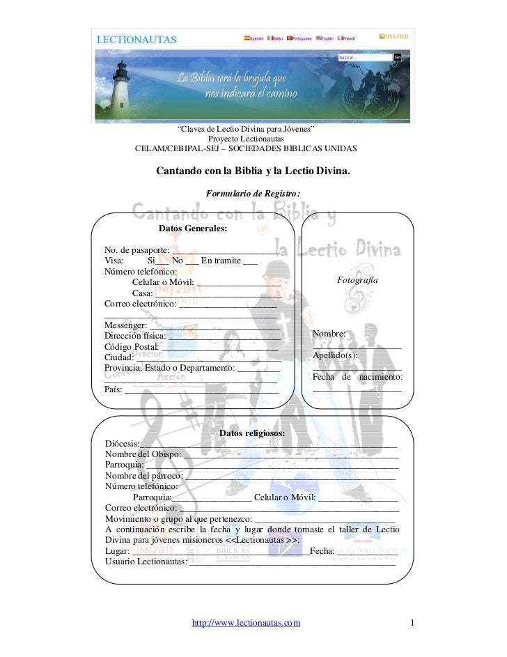 """""""Claves de Lectio Divina para Jóvenes""""                       Proyecto Lectionautas       CELAM/CEBIPAL-SEJ – SOCIEDADES BI..."""