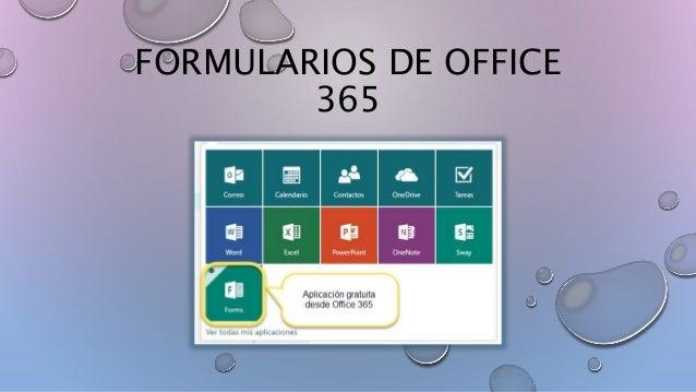 FORMULARIOS DE OFFICE 365