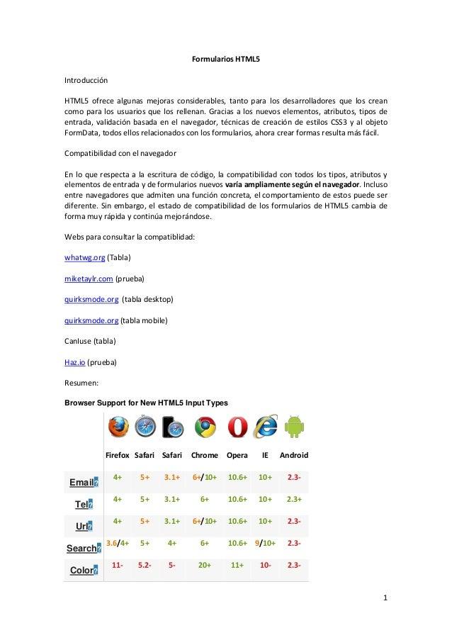 Formularios HTML5 Introducción HTML5 ofrece algunas mejoras considerables, tanto para los desarrolladores que los crean co...