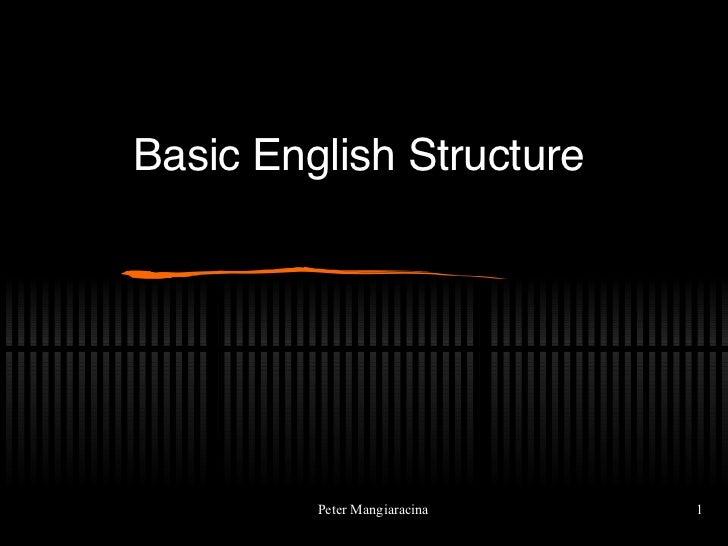 Basic English Structure