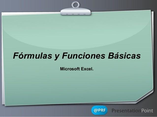 Fórmulas y Funciones Básicas Microsoft Excel.  Ihr Logo