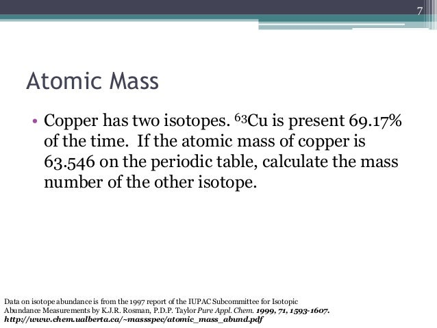Formulas and equations atomic mass copper urtaz Images
