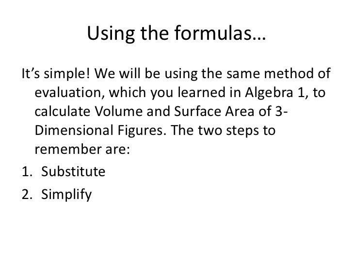 area volume and surface area formulas pdf