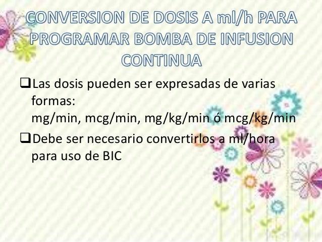• Usted debe de administrar una infusion de dopamina de 800 mcg  en 250 ml. La dosis requerida es de 2mcg/kg/min para un p...