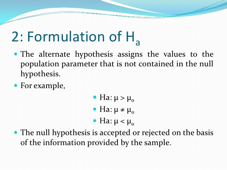 How to Set Up a Hypothesis Test: Null versus Alternative