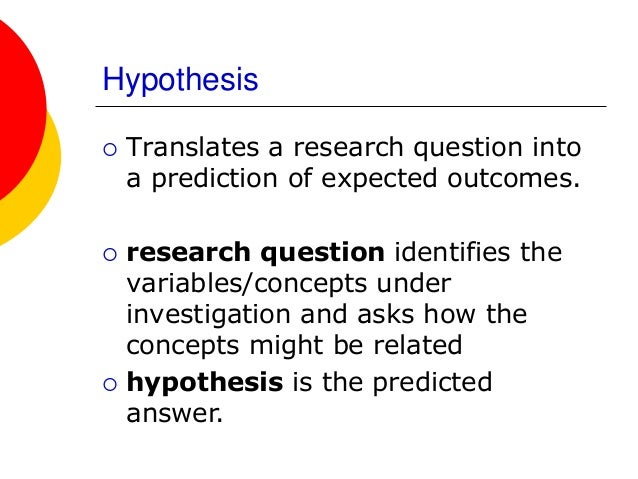 The hypothesis of