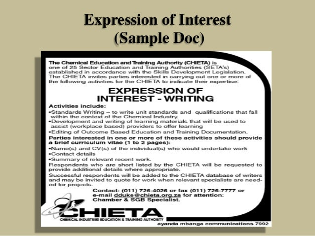 Formulation and approval of various infrastructure projects expression of interest sample doc altavistaventures Gallery