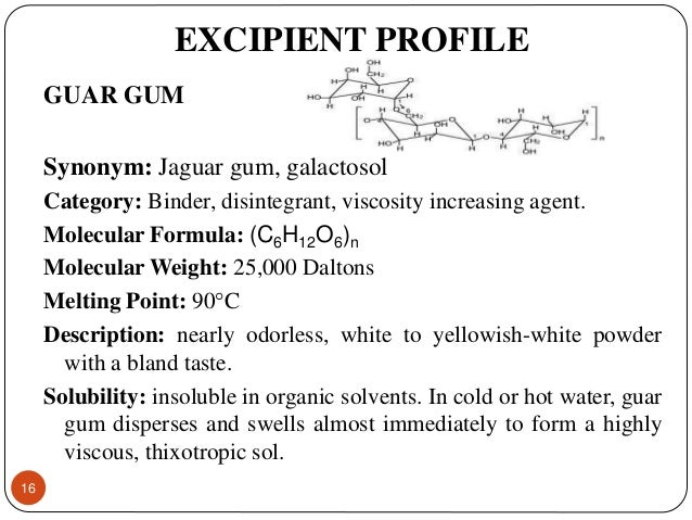 guar gum profile Our guar gum powder is naturally produced from the seeds of cyamopsis tetragonolobus our guar gum powder is certified organic and is used as a binder, thickener, and volume enhancer in food preparations.