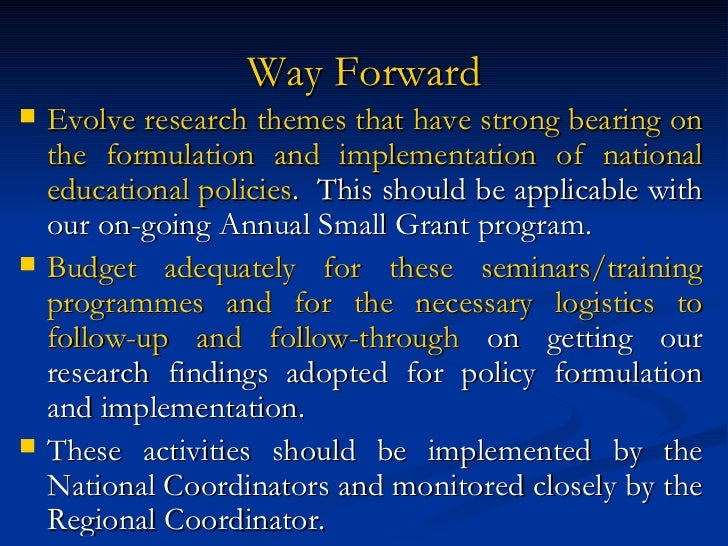 formulation and implementation of foreign policy The development and implementation of a public policy typically goes through a number of phases that are referred to as the policy cycle  the policy formulation .