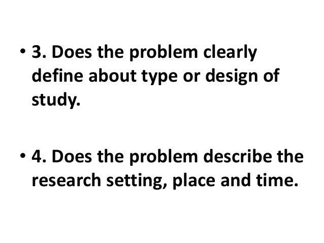FORMULATION OF RESEARCH PROBLEM