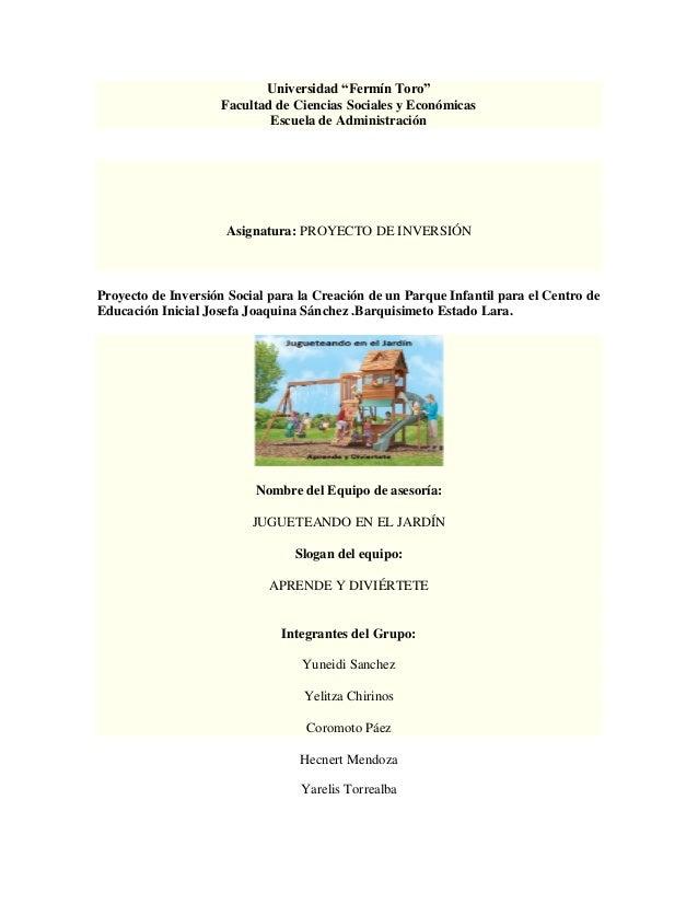 """Universidad """"Fermín Toro""""                     Facultad de Ciencias Sociales y Económicas                             Escue..."""