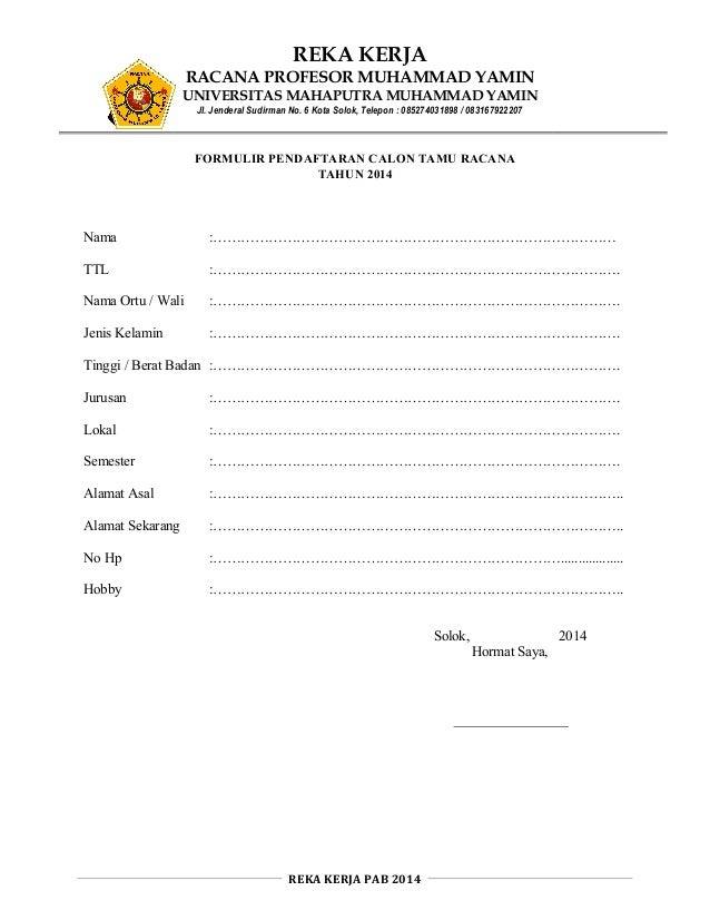 Formulir Penerimaan Anggota Baru Pramuka Ummy Solok