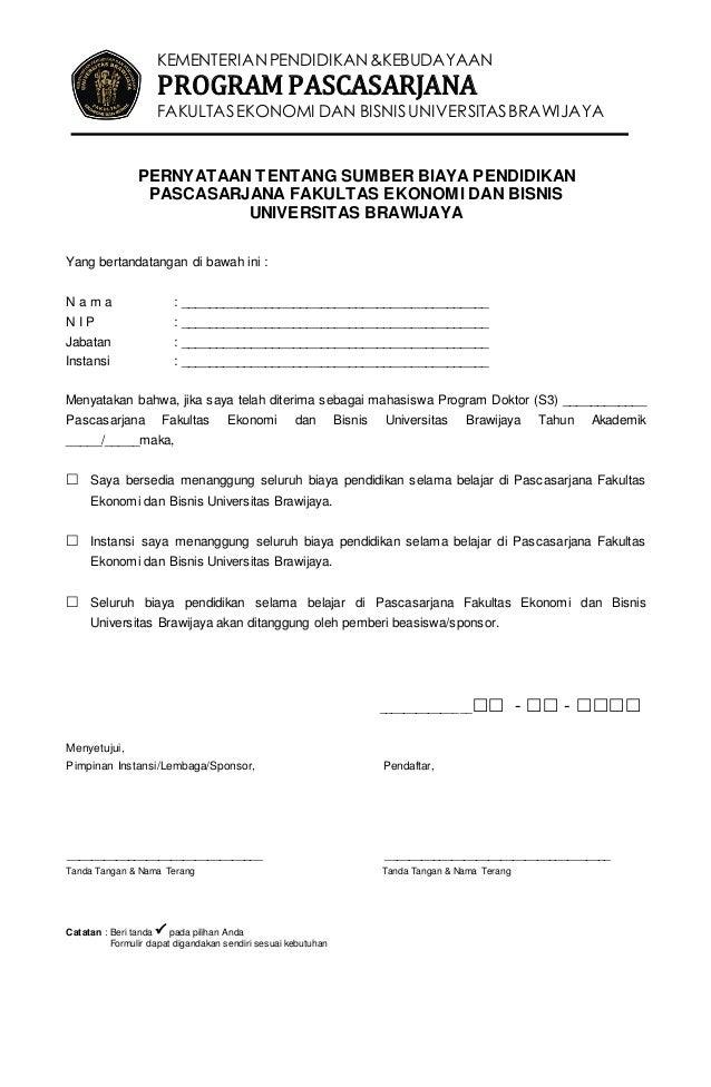 Formulir Pendaftaran S3 P Ps Feb Ub