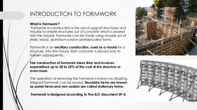 Formwork construction in structures for What does punch out mean in construction